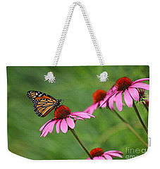 Monarch On Garden Coneflowers Weekender Tote Bag