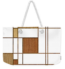Mondrian In Wood Weekender Tote Bag