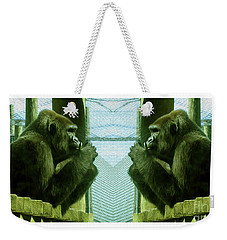 Monkey See Monkey Do Weekender Tote Bag by Nina Silver