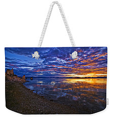 Weekender Tote Bag featuring the photograph Mono Lake Sunrise by Priscilla Burgers
