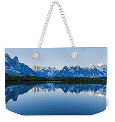 Mont Blanc Massif Panorama Weekender Tote Bag by Mircea Costina Photography