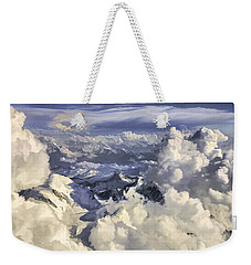 Weekender Tote Bag featuring the painting Mont Blanc by Muhie Kanawati