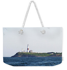 Montauk Lighthouse From The Atlantic Ocean Weekender Tote Bag