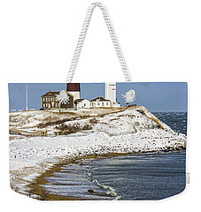 Montauk Snow Weekender Tote Bag