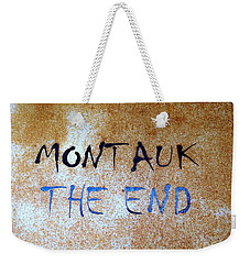 Weekender Tote Bag featuring the photograph Montauk-the End by Ed Weidman