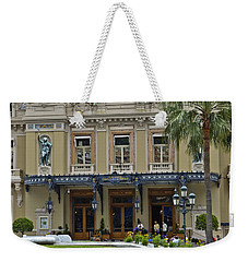 Weekender Tote Bag featuring the photograph Monte Carlo Casino by Allen Sheffield