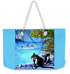 Weekender Tote Bag featuring the painting Montego Bay. Part One by Anna  Duyunova