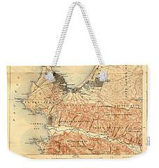 Monterey And Carmel Valley  Monterey Peninsula California  1912 Weekender Tote Bag