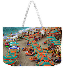 Monterosso Beach Weekender Tote Bag by Inge Johnsson