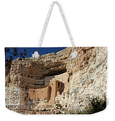 Weekender Tote Bag featuring the photograph Montezuma Castle by Penny Meyers