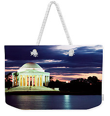 Monument Lit Up At Dusk, Jefferson Weekender Tote Bag by Panoramic Images