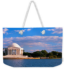 Monument On The Waterfront, Jefferson Weekender Tote Bag by Panoramic Images