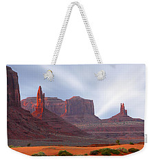 Monument Valley At Sunset Panoramic Weekender Tote Bag