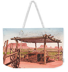 Monument Valley Overlook Weekender Tote Bag by Mike Robles