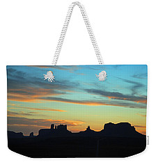 Monument Valley Sunset 4  Weekender Tote Bag