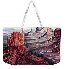 Monument Valley Arizona - Landscape Art Painting Weekender Tote Bag