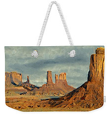 Weekender Tote Bag featuring the painting Monumental by Jeff Kolker