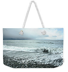 Moody Shoreline French Beach Weekender Tote Bag by Roxy Hurtubise
