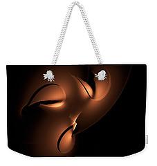Weekender Tote Bag featuring the digital art Moody by GJ Blackman