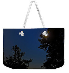 Weekender Tote Bag featuring the photograph Moon And Pegasus by Greg Reed