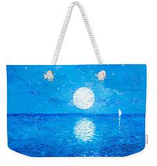 Moon And Stars Weekender Tote Bag by Jan Matson