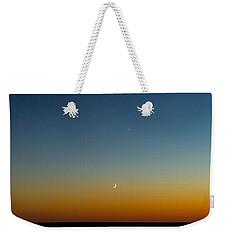 Moon And Venus I Weekender Tote Bag by Marco Oliveira