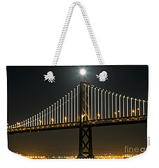 Moon Atop The Bridge Weekender Tote Bag