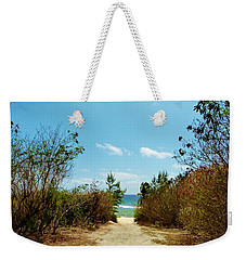 Weekender Tote Bag featuring the photograph Moon Bay Walk by Amar Sheow