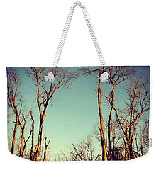 Moon Between The Trees Weekender Tote Bag by Kerri Farley