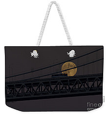 Weekender Tote Bag featuring the photograph Moon Bridge Bus by Kate Brown
