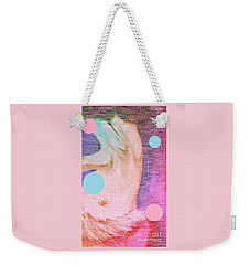 Weekender Tote Bag featuring the painting Moon Dance by Ann Calvo