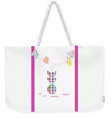 Moon Flower 2 Weekender Tote Bag