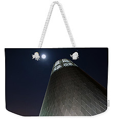 Weekender Tote Bag featuring the photograph Moon Gazing From Museum by Tikvah's Hope
