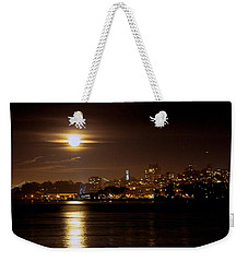 Weekender Tote Bag featuring the photograph Moon Glow by Steven Reed