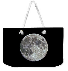 Weekender Tote Bag featuring the photograph Moon Hdr by Greg Reed