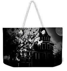 Weekender Tote Bag featuring the photograph Moon N U by Robert McCubbin