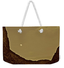 Moon Over Crag Utah Weekender Tote Bag