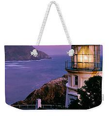 Moon Over Heceta Head Weekender Tote Bag