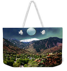 Moon Over Manitou I Weekender Tote Bag by Lanita Williams