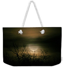 Weekender Tote Bag featuring the photograph Moon Over Prince George by Karen Harrison