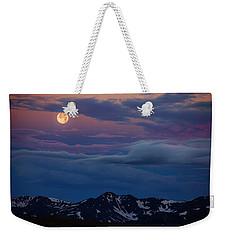 Moon Over Rockies Weekender Tote Bag