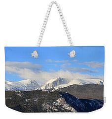 Moon Over The Rockies - Panorama Weekender Tote Bag