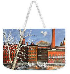 Moon Over Waltham Watch Weekender Tote Bag by Rita Brown