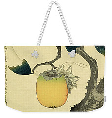 Moon Persimmon And Grasshopper Weekender Tote Bag