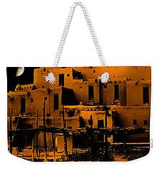 Moon Rise At The Pueblo Weekender Tote Bag