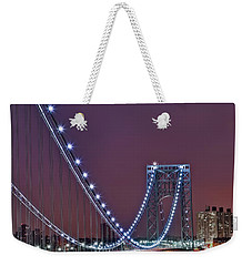 Moon Rise Over The George Washington Bridge Weekender Tote Bag