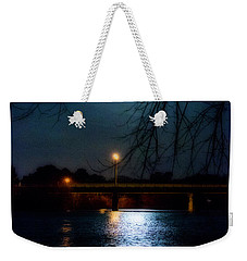 Moon Set Lake Pleasurehouse Weekender Tote Bag