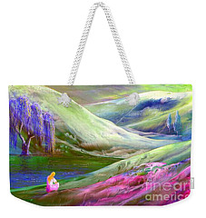 Weekender Tote Bag featuring the painting Moon Shadow by Jane Small