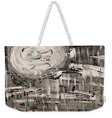 Weekender Tote Bag featuring the painting Moon Shimmer by Mary Carol Williams