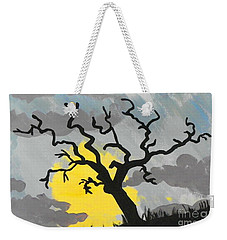 Weekender Tote Bag featuring the painting Moon Tree by Marisela Mungia
